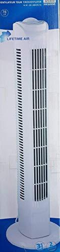 Ventilator Säulenventilator Turmventilator leise, 78cm , max. 57dBA , 3 Stufen Standventilator , Oszillierender 75° (Schwenkbar) , 45 Watt Leistungsstarker Motor , Weiss