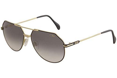 Cazal Sunglasses Legends 724/3 002 Black Gold Grey Gradient 61 16 145 New 100% Authentic
