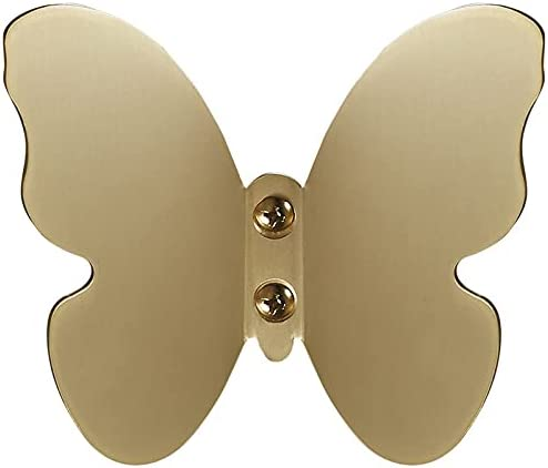 Decorative Hook Butterfly Gold for Wall Same day shipping Ba Ranking TOP5 Coat Brass Hooks