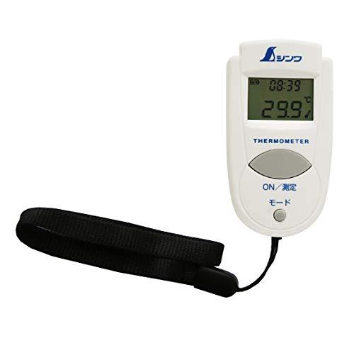シンワ測定(Shinwa Sokutei) 放射温度計 A ミニ 時計機能付 73009 (※体温計としてはご使用になれません)