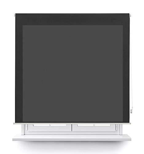 DABUTY ONLINE, S.L. Estor translúcido Liso para Ventana. Estores Enrollables para Ventanas y Puertas (Negro, 100 x 180 cm)