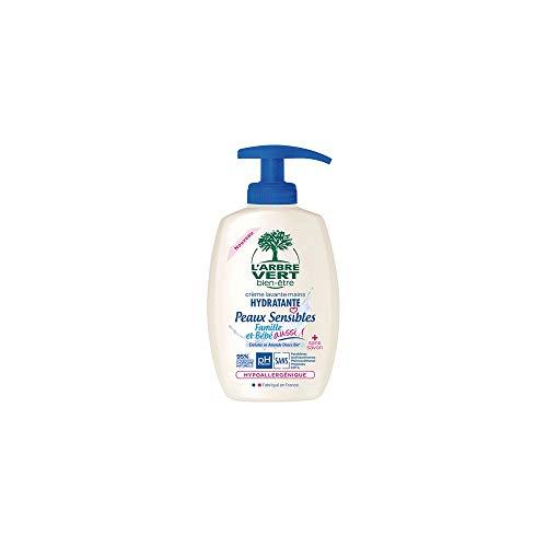 Creme lavante main peaux sensibles bio pompe 300ml - ARBRE VERT