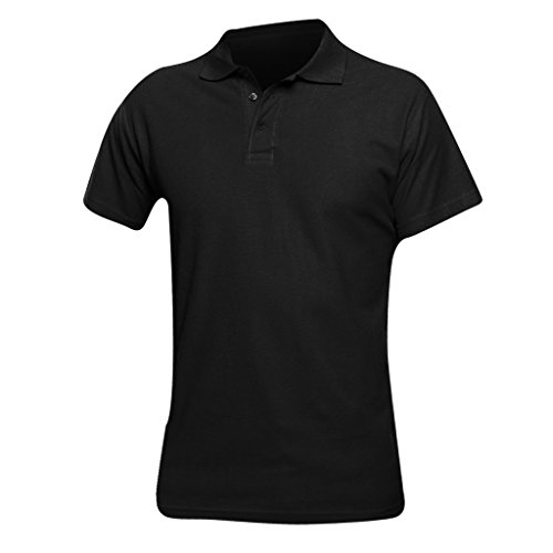 Sols Herren Spring II Polo-Shirt, Kurzarm (2XL) (Schwarz)