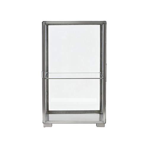 House Doctor Vitrine, Stahl, Glas, Zink, 26 x 25 x 41