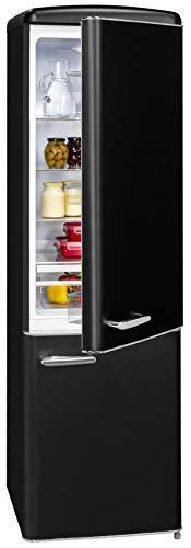 Exquisit Retrokühlschrank RKGC250-70-H-160E mattschwarz | Standgerät | 244 l Volumen | mattschwarz