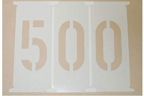 Zahlenschablonen 500mm nach DIN 1451