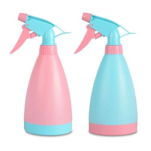 Cymax 2 Stücke 500ml Kunststoff Leere Sprühflasche Blumensprüher,Wiederverwendbar Zerstäubereffekt BPA frei Sprayer,Sprüher für Pflanze Blumen Garten Friseursalon