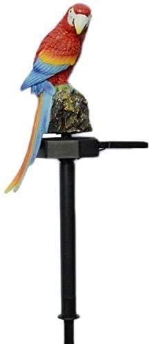 Raelf Al aire libre impermeable solar llevó la luz solar al aire libre loro pájaro impermeable luz decoración del jardín resina creativa luz decorativa solar jardín luz solar luz solar jardín