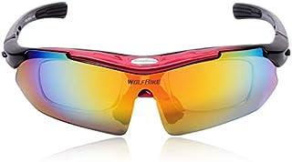 WOLFBIKE Brand UV400 Men/Women Coating Polarized Sunglasses Safety Eyewear Goggle for Riding-red