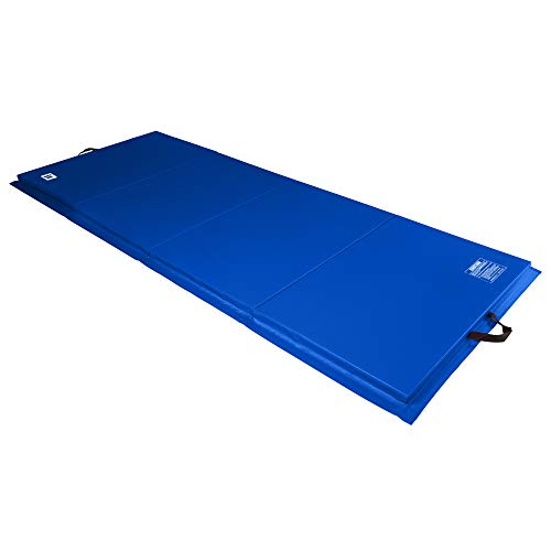 We Sell Mats 4 ft x 10 ft x 2 in Personal Fitness & Exercise Mat, Lightweight and Folds for Carrying, Blue