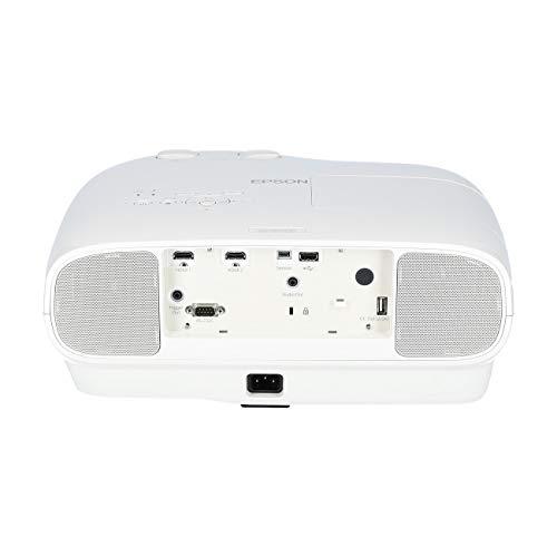 Epson EH-TW7100 4k Pro-UHD 3LCD-Beamer (Kontrastverhältnis 100.000:1, Weiß- und Farbhelligkeit 3000 Lumen, integrierte 10-W-Lautsprecher)