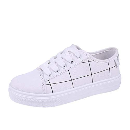 SUNNSEAN Women Sport Shoes, Damen Sneaker Weiß weiß 50