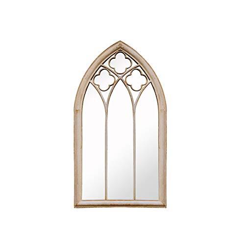 Decoración del hogar Espejos Espejo De Decoración De La Ventana, Sala De Estar De Hierro Forjado Espejo De Pared De Pared Irregular Retro Espejo 61 * 112 * 4 Cm Espejos de baño(Size:61*112*4CM)