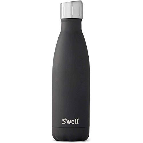 S'well Vakuumisolierte Edelstahl-Wasserflasche, 500 ml, Black