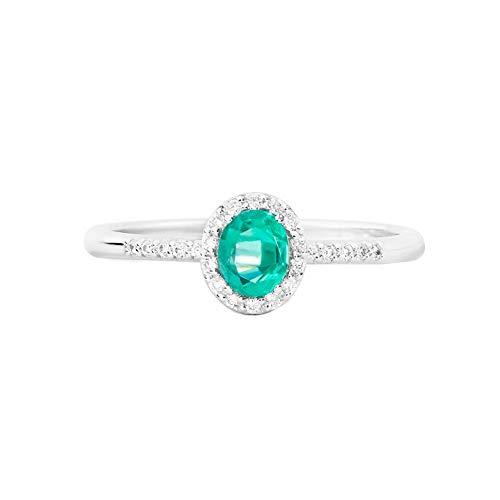 Recarlo Anello Smeraldo Modello Gemma Diamanti Naturali Oro 18kt Donna XE251/BSM1