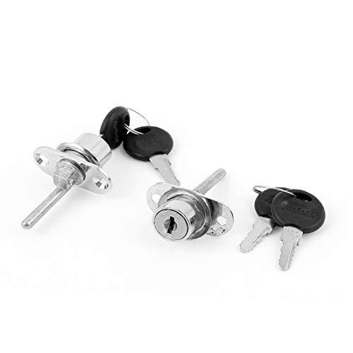 New Lon0167 Oficina en Destacados el hogar Puerta eficacia confiable corredera Gabinete Cajón Escaparate Plunger Lock 2PCS(id:bac c8 98 4f1)