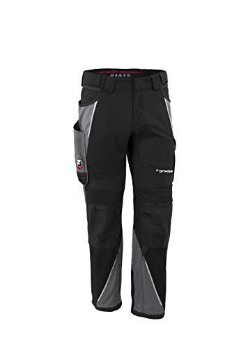 Grizzlyskin Bundhose Schwarz/Grau N42 - Unisex Workwear Arbeitshose für Männer und Damen mit vielen Taschen, Cordura-Schutzhose