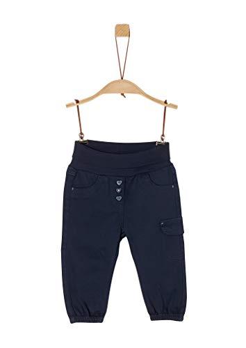 s.Oliver Unisex - Baby Twillhose mit Umschlagbund dark blue 62.REG