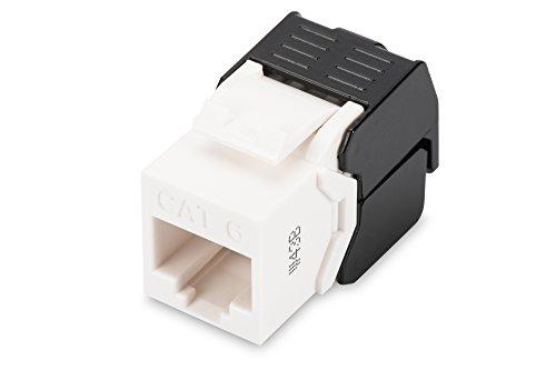 Modulo DN-93603 Digitus Keystone - Cat-6 - non schermato - RJ45 - Classe E - 250 MHz - 1GBase-T - Senza utensili di montaggio - Bianco, Modulo Keystone - Bianco, Cat 6 - Non Schermato