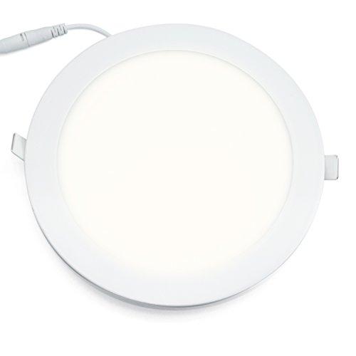 18w LED Panel ultra slim Deckenleuchte Einbaustrahler Einbau Leuchte rund LED Panel rund neutralweiß 22.5cmcm Durchmesser