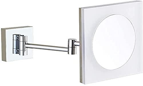 Qjkmgd Espejo, Baño, Montado en la Pared, Tocador, Cuarto de baño Coloque la Pared Plaza Mirror Mirror Espejo de Maquillaje LED con Pared de baño Ligero, tapón Expuesto (Color : Exposed Plug)