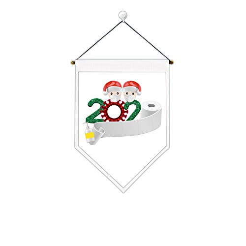 Uspring Christmas Tapestry Santa Claus Tapestry 2020 Merry Christmas Tapestry Xmas Tapestry Saying Goodbye to Quarantine 2020 Wall Hanging for Room (White 2,12.6 x 17.7 inches)