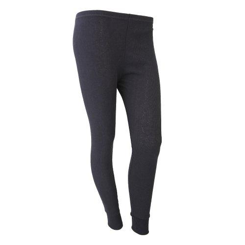 FLOSO® Damen Thermo Unterwäsche, Lange Unterhose (Hüfte: 97-102cm (40-42)) (Schwarz)