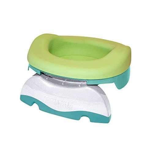 Potette Plus Multifunktions-Dose: Reisetopf, Toilettenverkleinerer, Haustopf dank flexibler Nachfüllpackung, 10 Einweg-Nachfüllpackungen (hellgrün)