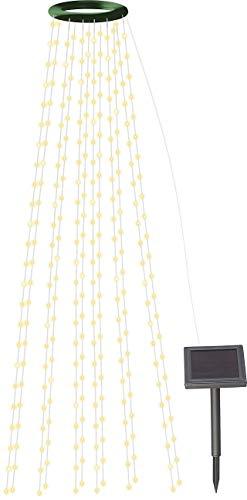 Lunartec Lichterkette außen: Solar-Tannenbaum-Überwurf-Lichterkette, 12 Girlanden, 300 LEDs, IP44 (Überwurflichterkette)