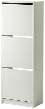 Ikea Bissa Meuble A Chaussures Avec 3 Compartiments Blanc 49x135 Cm Amazon Fr Cuisine Maison