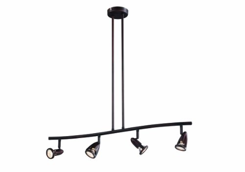 Transglobe Lighting W-466 ROB Track Light, Rubbed Oil Bronze Finished