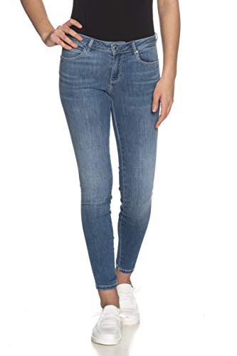 Guess Jeans Mujer pantalón Vaquero Azul 5 Bolsillos W1RAJ2D4AK3-ALBM