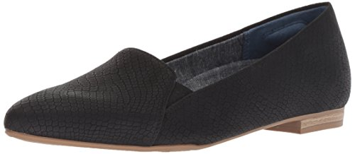 Dr. Scholl's Shoes Women's Anyways Loafer, Black Snake Print Fabric, 6.5 M US