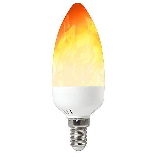 MENGS E14 Flamme Glühbirne 2W LED Flamme Lampe 3 Beleuchtungsmodi für Weihnachten, Zuhause, Hotel, Bar, Festdekorationen