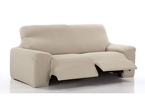 FRESH HOME HOME TEXTILES Housse de Canapé Bi-Elastique Relax Fantastic (Soft Relax 3 Places, Marron)