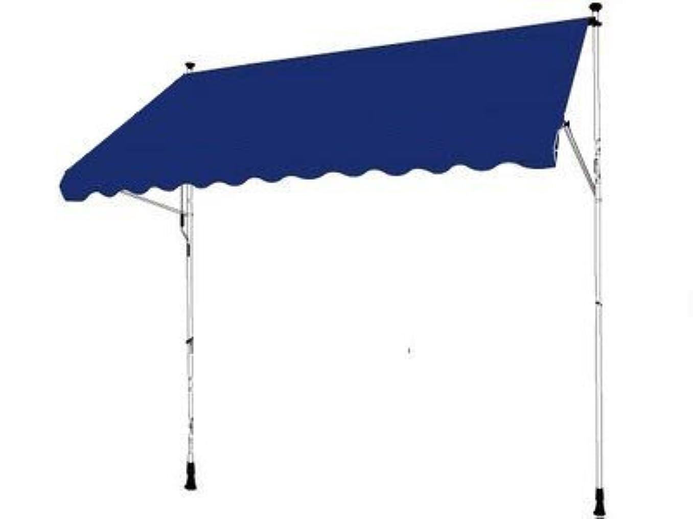 教義夫壊滅的なつっぱり式/カンタン設置/オーニングテント/1.95×1.5m/ブルー/OWT