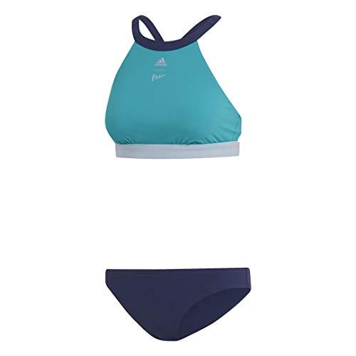 "adidas Damen Beach Wear Parley Hip Bikini Badeanzug, Grün/Legend Ink, 40"""