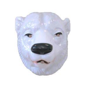 Müller - Hartplastik Tier-Maske für Erwachsene Eisbär