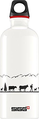 Gourde SIGG Swiss Craft (0.6 L), gourde étanche et sans produits toxiques ni BPA, bouteille aluminium robuste et très légère, facile à transporter