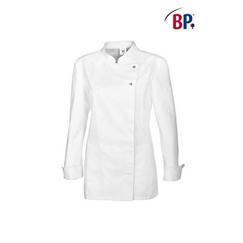 BP 1544-400 - Chaqueta de cocinero para mujer (tejido mixto resistente, talla XL), color blanco