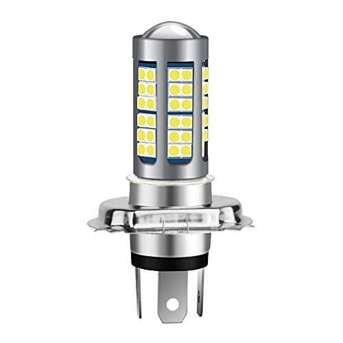 H4 LED Motorcycle Headlight Bulb Hi/Lo Beam 360 Degree 6 Sides 2000 Lumens Super Bright White 6000k 75SMD 3030 Chips HB2 9003 HS1 P43t Car Headlamp