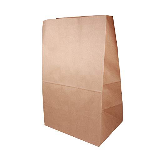 BODA Lunchtüte Größe L Papiertüte Inhalt: 25 Stück ca. B18 x T13,5 x H31,5 cm Snackbeutel Obsttüte Geschenktüte