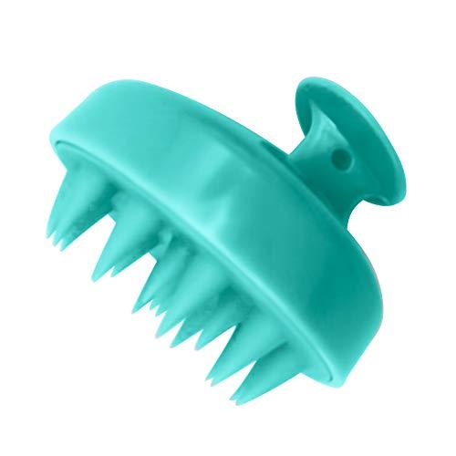 Dacitiery Cepillo de champú para el cabello, masajeador de cuidado del cuero cabelludo, cepillo de cuidado de la limpieza del cabello, cepillo de silicona suave (verde)