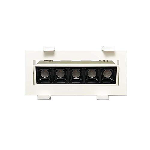 Laser Blade LED-Einbaustrahler, schwenkbar, 10 W, 3000 K, warmes Licht, 800 lm, Weiß/Schwarz