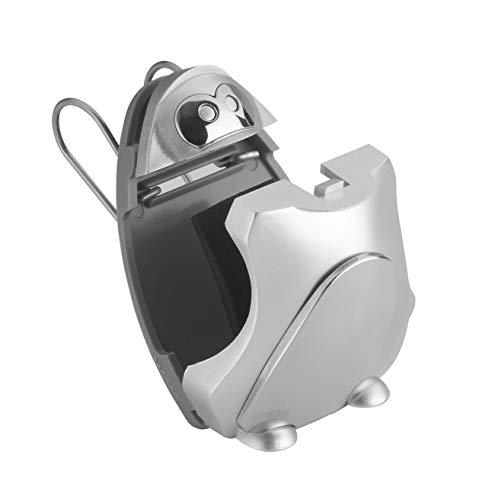 TFA Dostmann SONNYBOY Brillenhalter für Auto PKW LKW, 98.3033, Sonnenbrillen-Halterung, grau/silber, L96 x B40 x H151 mm