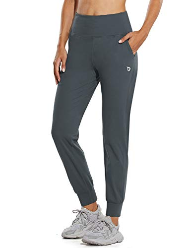 BALEAF Women's Athletic Joggers Buttery Soft Running Sweat Pants with Pockets Lounge Gym Active Workout Plus Size Grey XXL