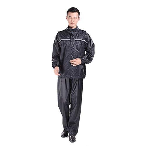 LULUDP Chubasqueros Poncho impermeable de la motocicleta del montar a caballo impermeable, traje de la lluvia de la sola división gruesa ropa impermeable impermeable + traje de los pantalones