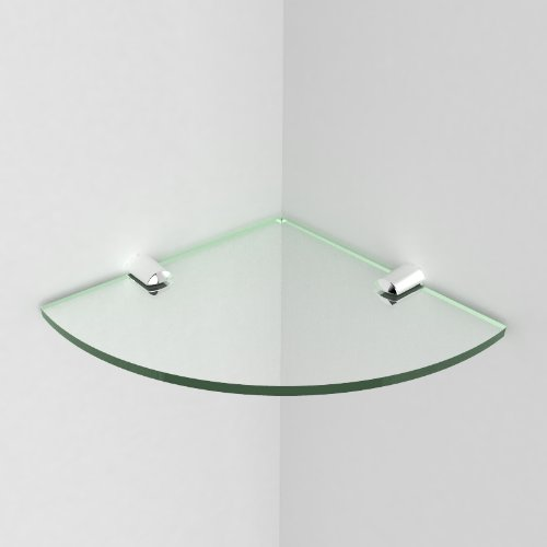 Winkel-Regal für Badezimmer, aus Acryl, Klein, 150mm, mit Halterungen, verchromt