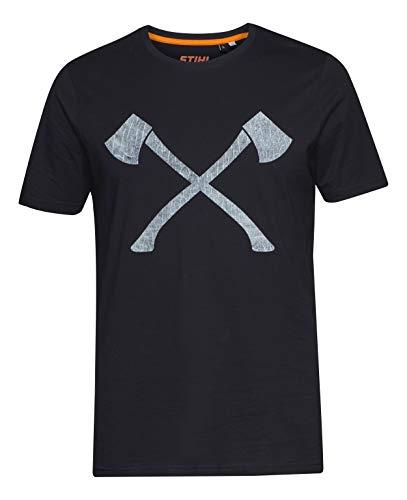 Stihl Axe Wood - Camiseta para hombre, color negro Negro XXL