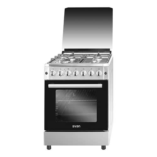 Svan SVK6603ETX Cocina Mixta Butano 4 Fuegos Horno 60L Inox
